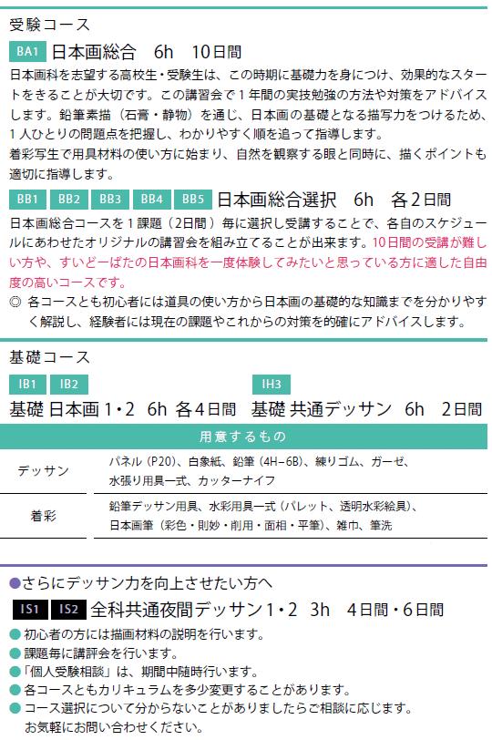 2018春季講習会日本画