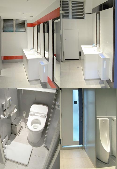 改装したきれいなトイレ