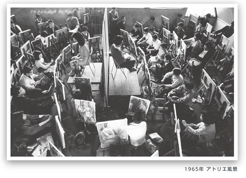 1965年 アトリエ風景