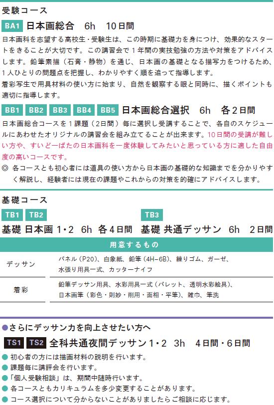 2019春季講習会日本画