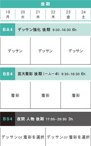 夏季講習日本画科後期コース