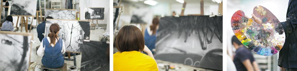 油画科冬季講習イメージ