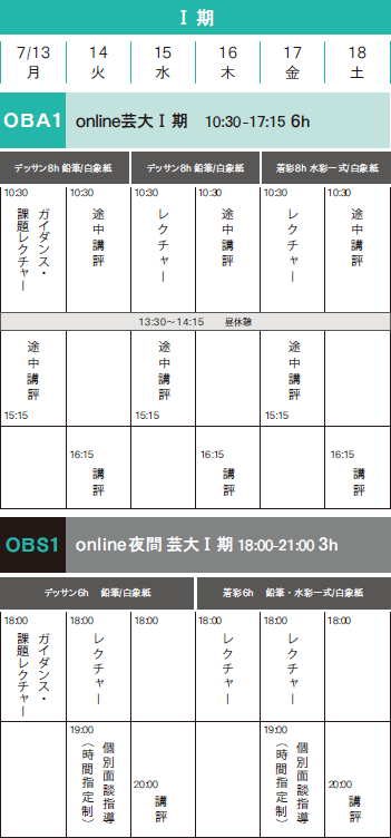 日本画科 Online夏季講習会2020