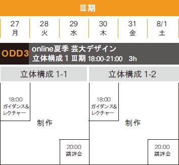 デザイン科芸大コース online夏季講習会2020