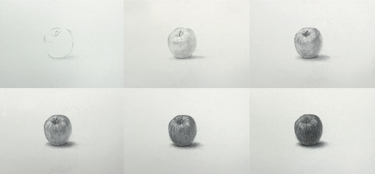 りんご制作過程