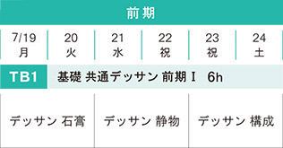 日本画科 夏季講習会 基礎科TB1